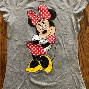 New Disney Mini Mouse T-shirt's front and back.